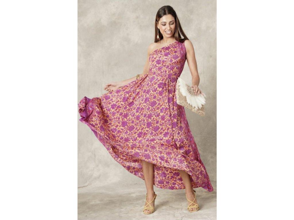 é hedvábné šaty Mykonos