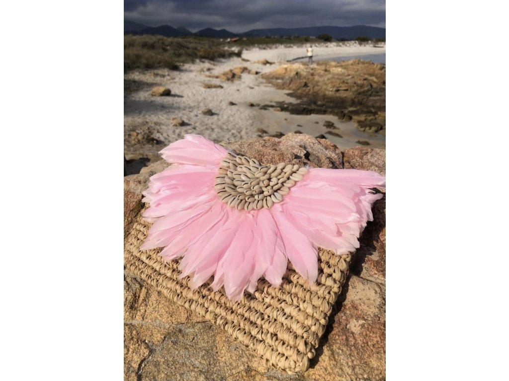Plážová taška s peřím