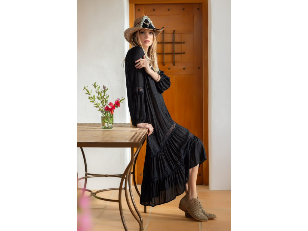 Vestido Dafne Largo en Negro