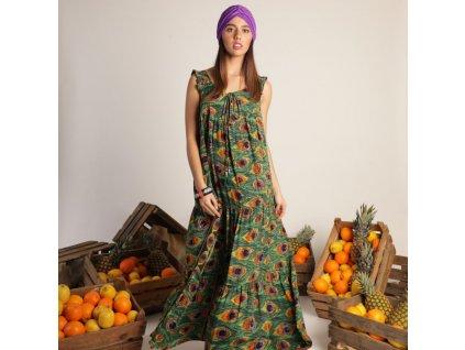 Bari Dress dlouhé hedvábné šaty