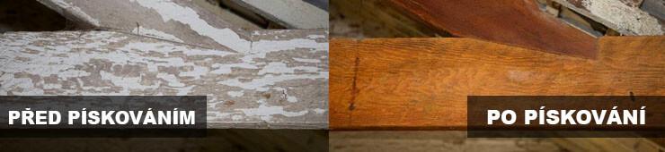 ukázka-dreva-pred-po-pískování