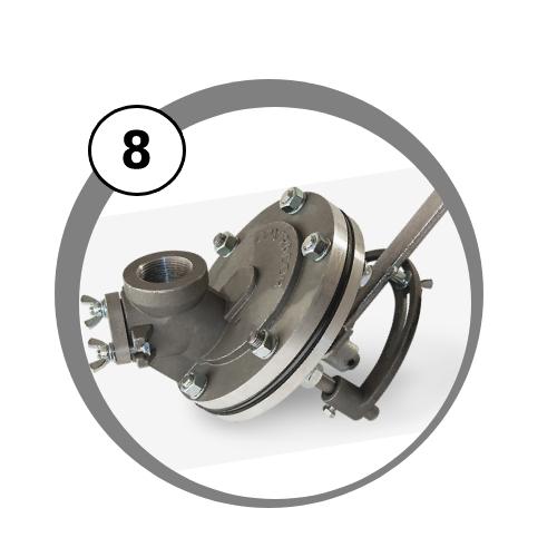 dávkovací ventil FSV pro mobilní tryskací zařízení