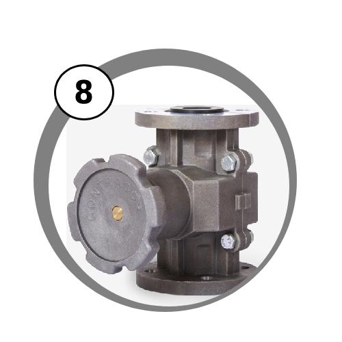 dávkovací ventil SVG pro mobilní tryskací zařízení