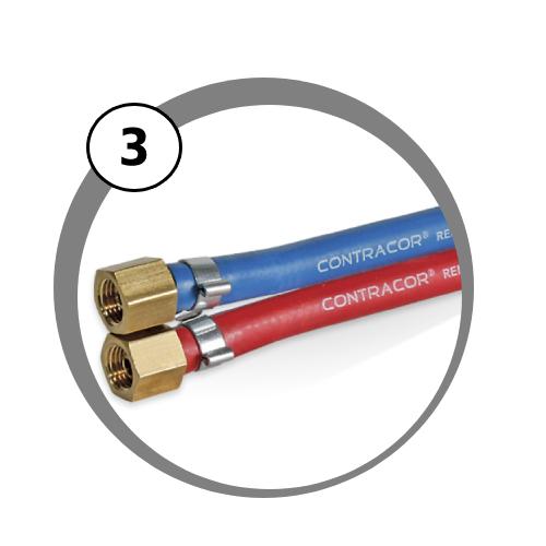 hadice dálkového ovládání Twinline pro mobilní tryskací zařízení
