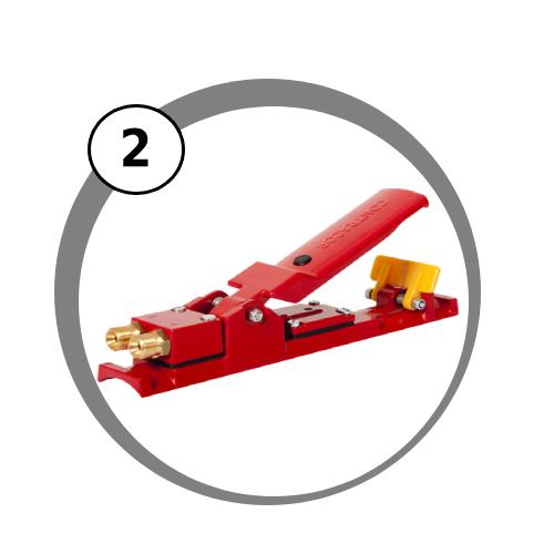 páka DHM dálkového ovládání pro mobilní pískovací zařízení