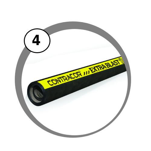 tryskací hadice Extrablast pro pískovací zařízení