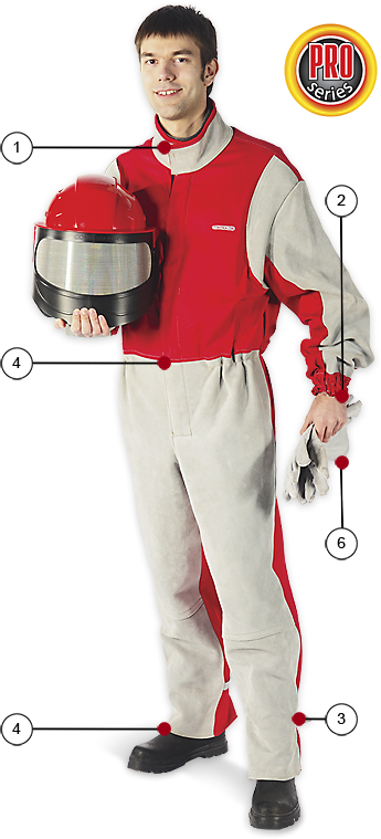 Ochranný oblek pro pískování