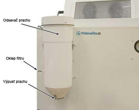 pískovací-box-990l-odsavač-prachu
