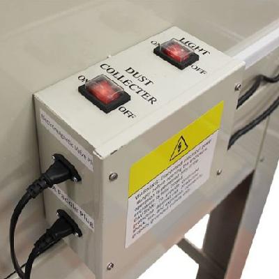 ovládání světla a odsávání tlakového tryskacího boxu SBC 990