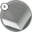 Ochranná kukla na pískování Comfort - detail