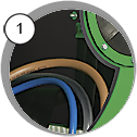 Injektorová pískovací kabina eco SF - detail
