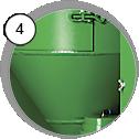 Injektorová tryskací kabina CAB - detail