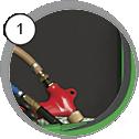 Injektorová tryskací kabina CAB SD - detail