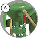 pískovací tlakový box eco - detail