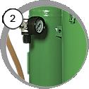 tlaková kabina na tryskání - detail