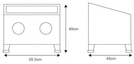 pískovací kabina stolní rozměry