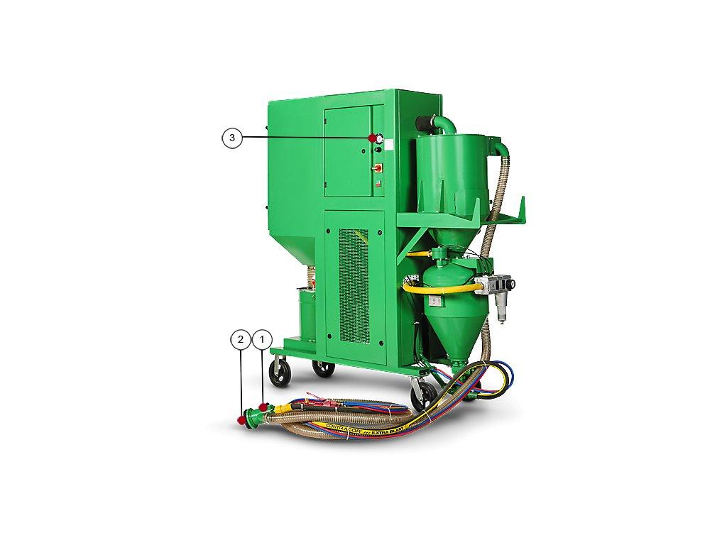tryskací zařízení s odsáváním BRS-3