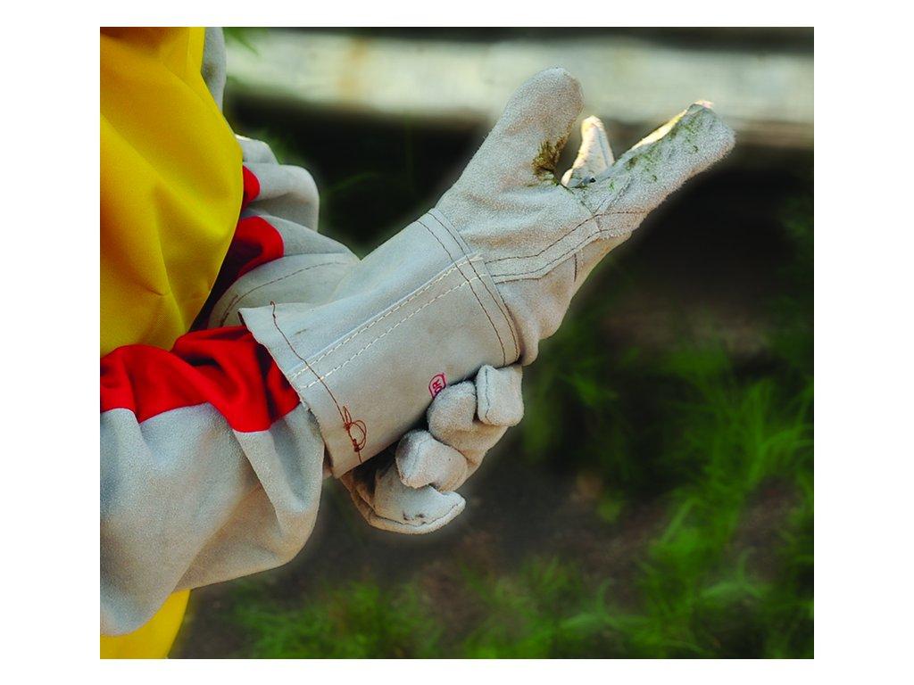 Dlouhé rukavice z kůže