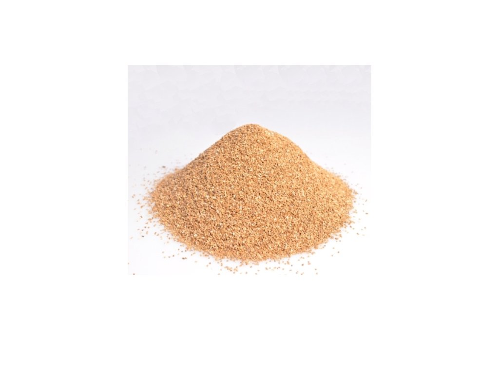 abrazivní materiál: drcené ořechové skořápky