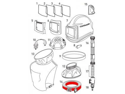 opasek pro ochrannou tryskací kuklu Comfort / Aspect