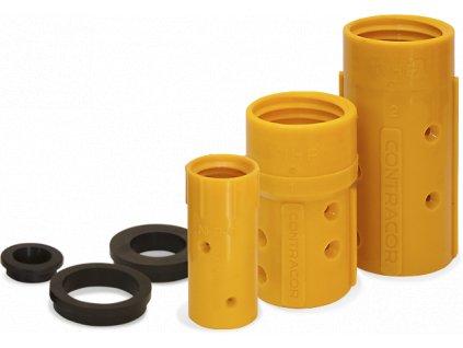 Držáky trysek z nylonu NHP s gumovým těsněním