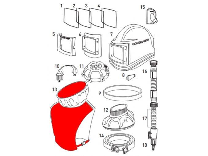 ochranná vesta pro tryskací kukly Comfort a Aspect Contracor