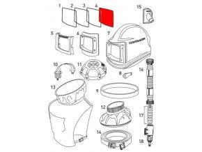 gumové těsnění hledí pro ochrannou kuklu Comfort Contracor