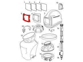 rámeček hledí pro ochrannou kuklu Comfort Contracor