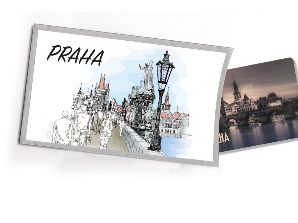 Pohled S Darkem Praha Karluv Most Kresleny Pohledy S Darkem