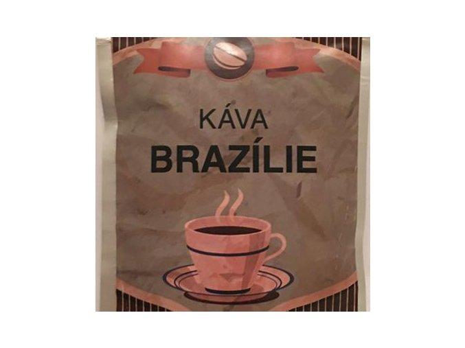 Káva Brazilie stříbrný sáček