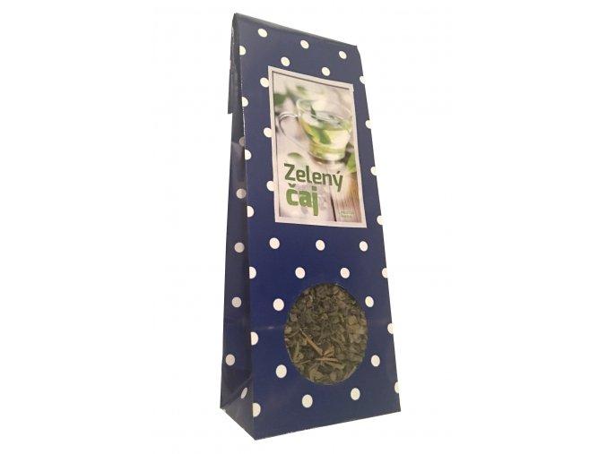Zelený čaj Puntíky