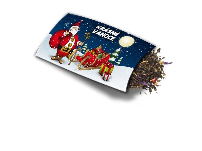 Pohled s dárkem Krásné Vánoce