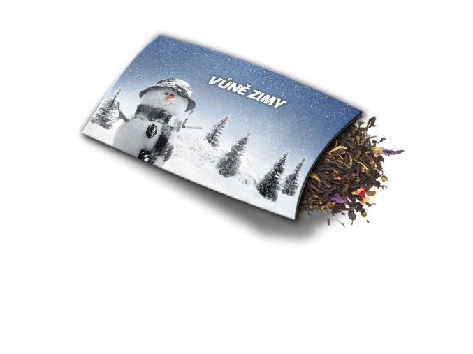 Pohled s dárkem Vůně zimy