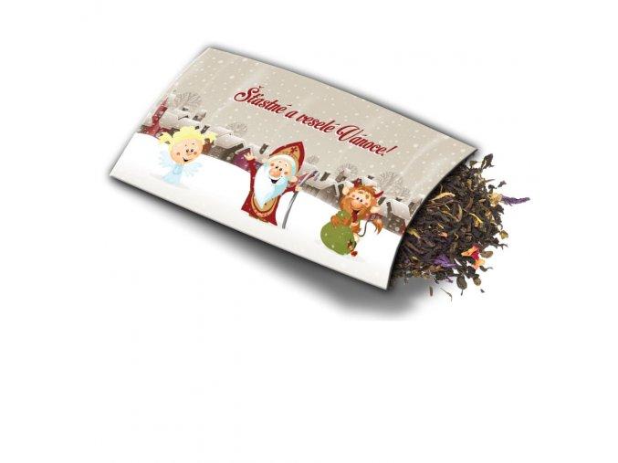 Přání s dárkem Šťastné Vánoce