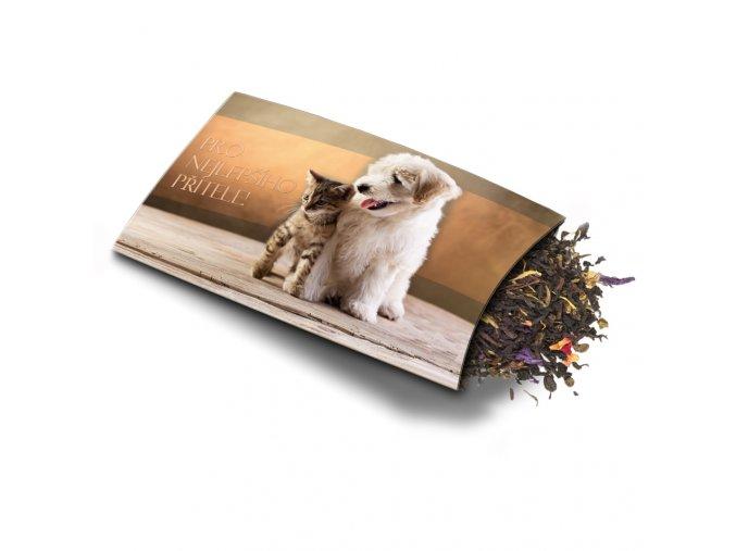 Pohled s dárkem Pro nejlepšího přítele - pes,kočka