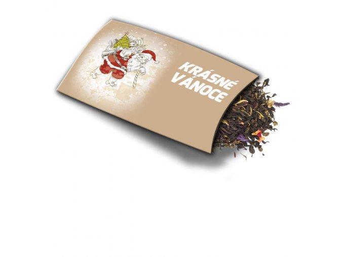Přání s dárkem Krásné Vánoce