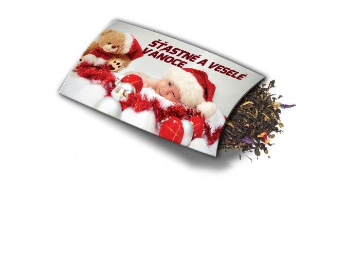 Přání s dárkem Šťastné a veselé Vánoce