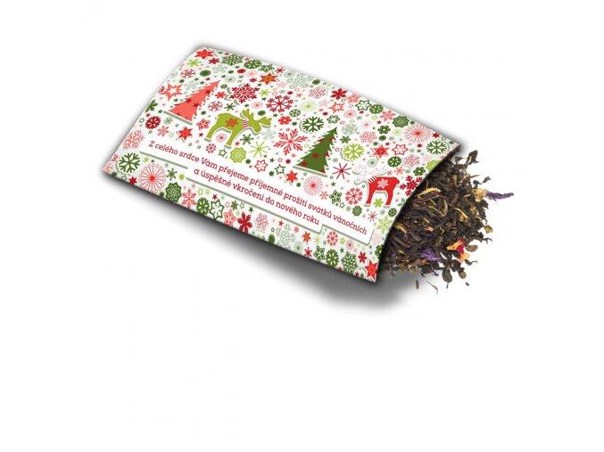 Přání s dárkem Vánoce stromečky