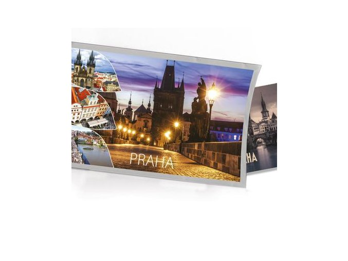 Přání s dárkem Praha - noční Karlův most