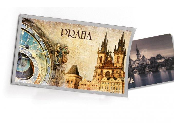 Přání  s dárkem Praha orloj