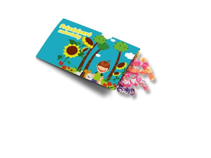 Pohled s dárkem - Prázdninové radovánky