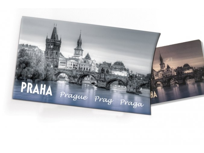 Pohled s dárkem Praha Karlův most