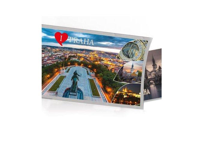 Pohled s dárkem Praha Vítkov