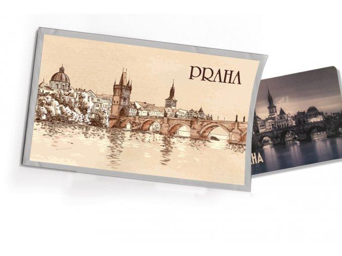 Pohled s dárkem Praha retro