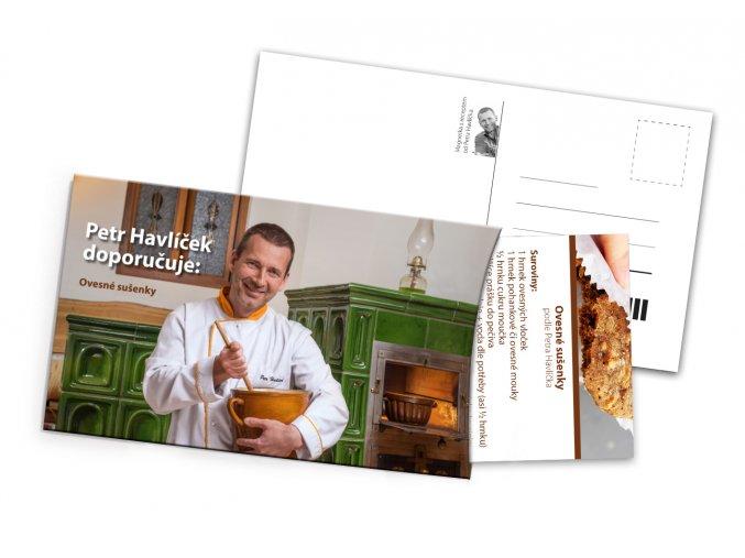 Pohled s dárkem Recept Petra Havlíčka Ovesné sušenky