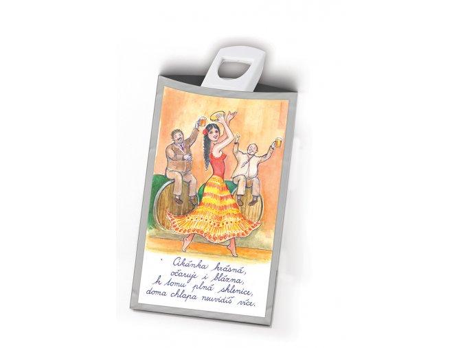 Pohled s dárkem Pro muže tanečnice