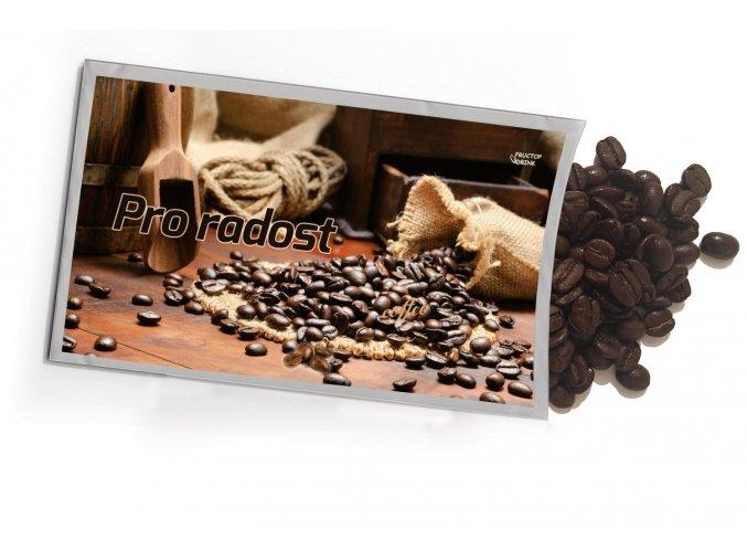 Pohled s dárkem Pro radost káva