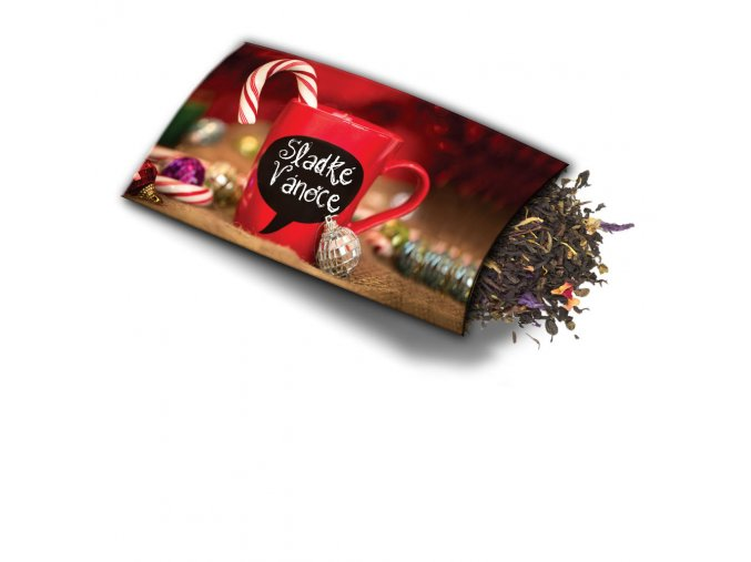 Pohled s dárkem Sladké Vánoce