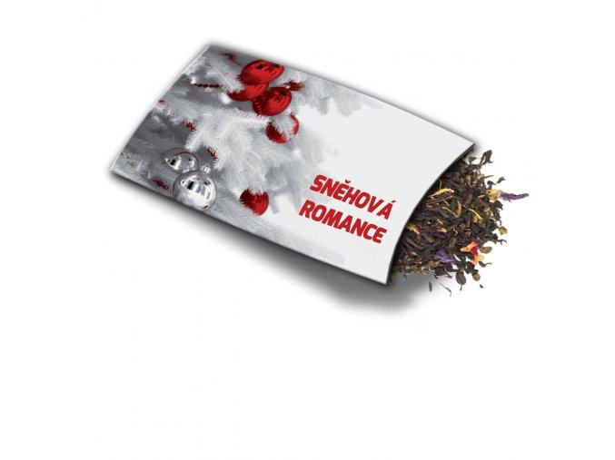 Pohled s dárkem Sněhová romance