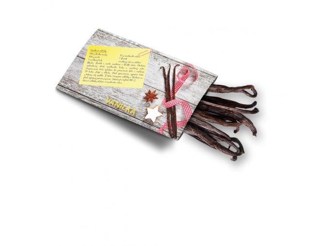 Pohled s dárkem Vanilkový lusk